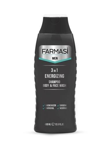Farmasi Men 3'Ü 1 Arada Enerji Veren Şampuan, Yüz Ve Duş Jeli-400Ml Renksiz